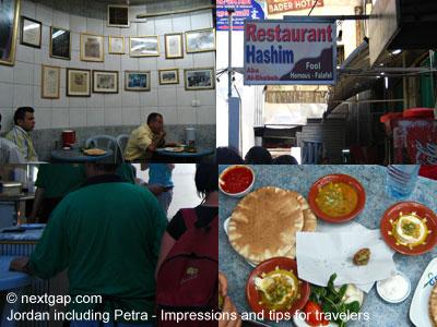 Jordan - hashim humus restaurant in Amman