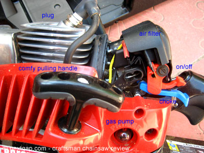 With the protective plastic off, you can see the different parts, including the air filter