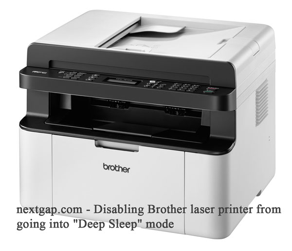 Disable Brother laser printer from going into a deep sleep mode